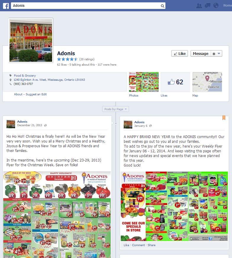 adonis-facebookpage